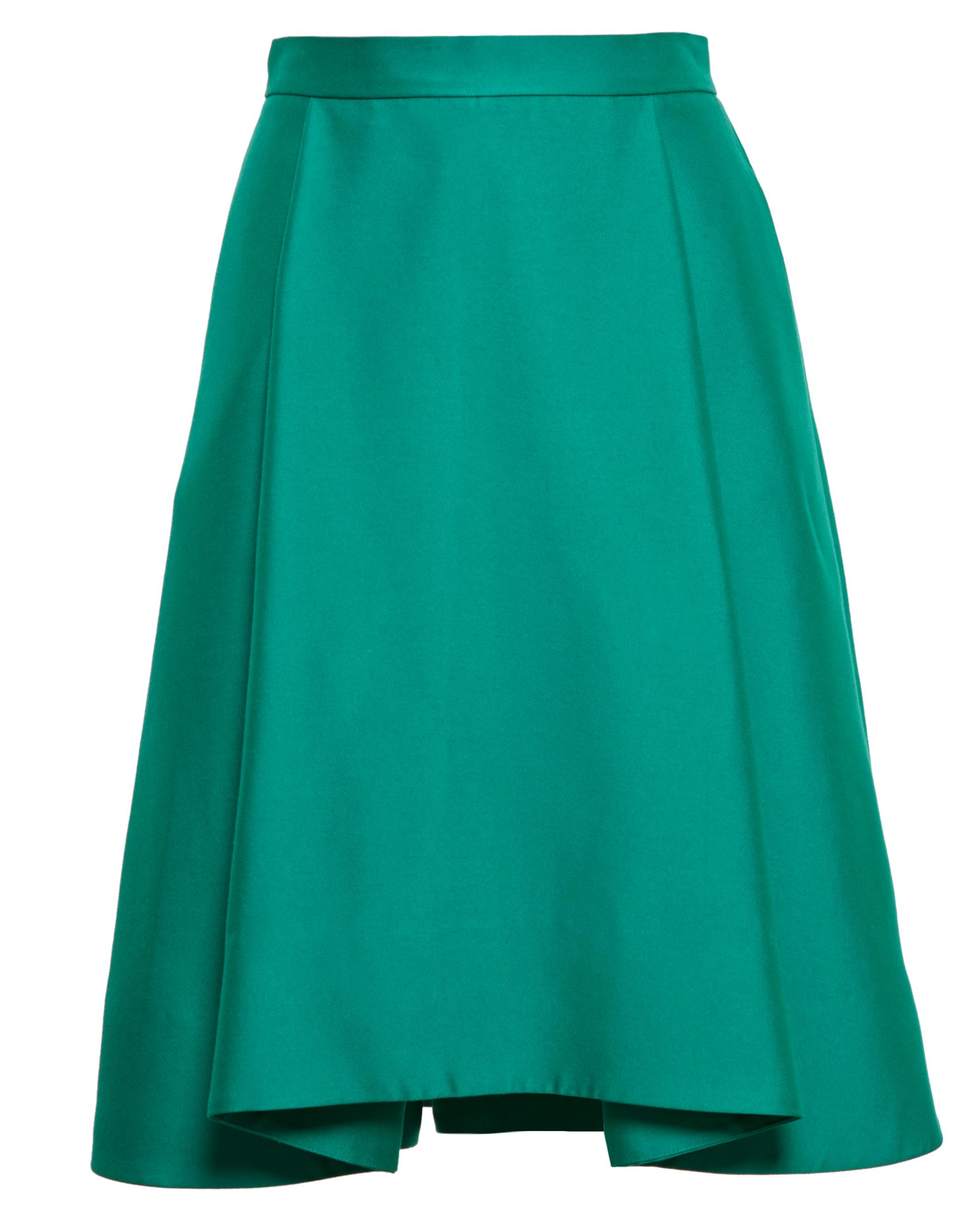 osman pleated skirt in green lyst