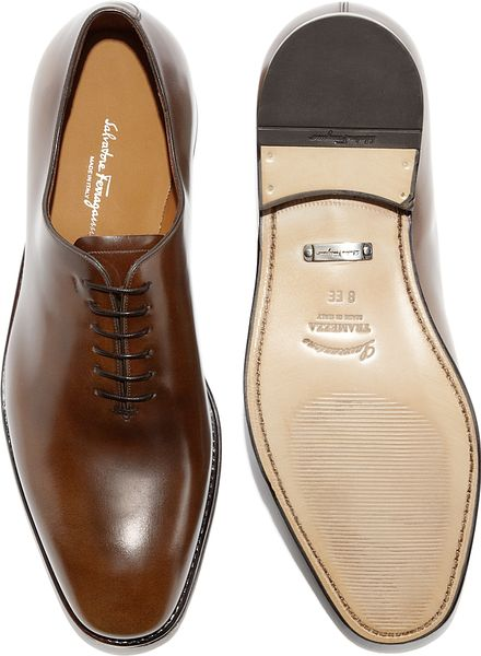 Plain Toe Oxford Brown Ferragamo Plain Toe Oxford