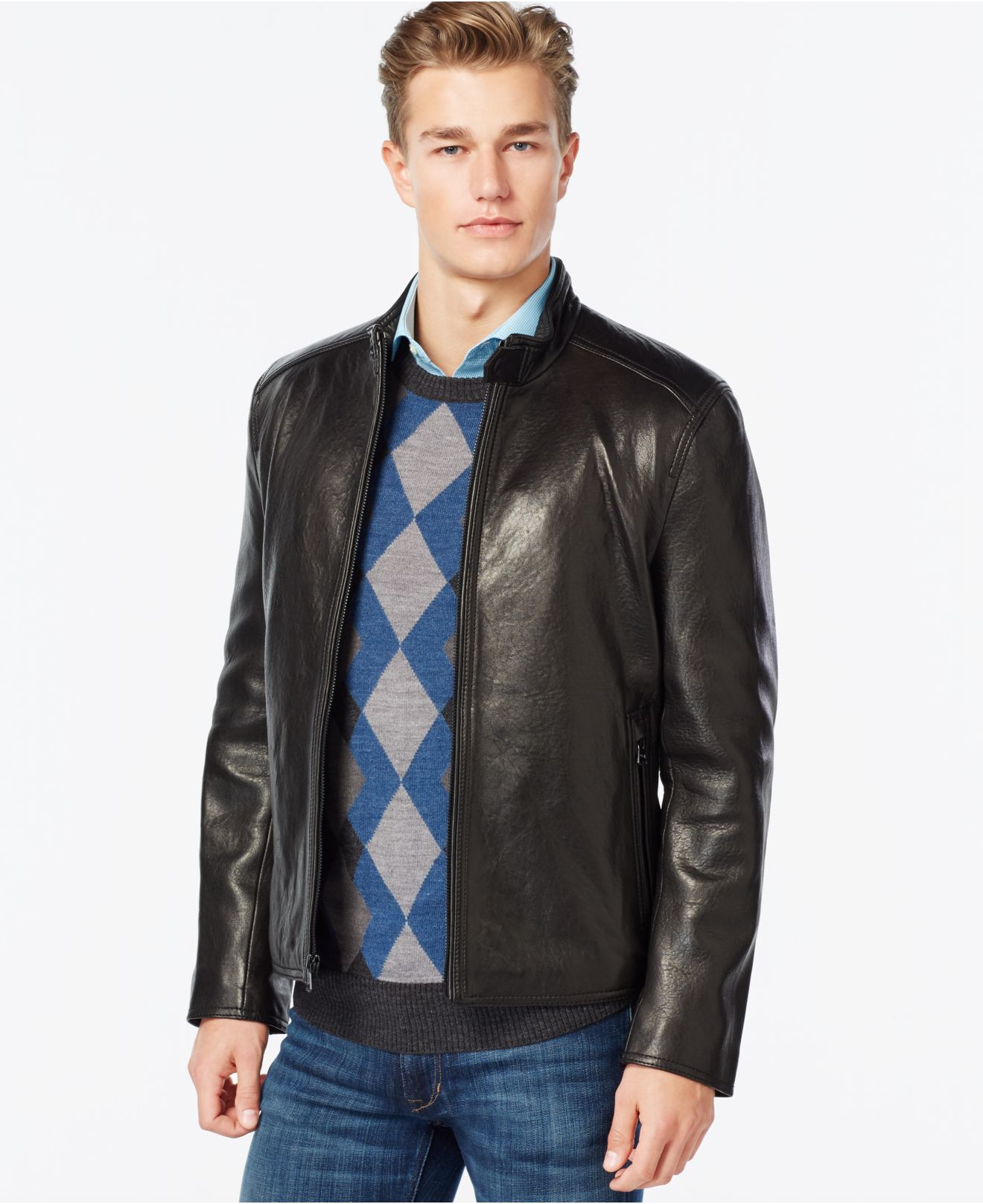 Marc new york leather jacket mens
