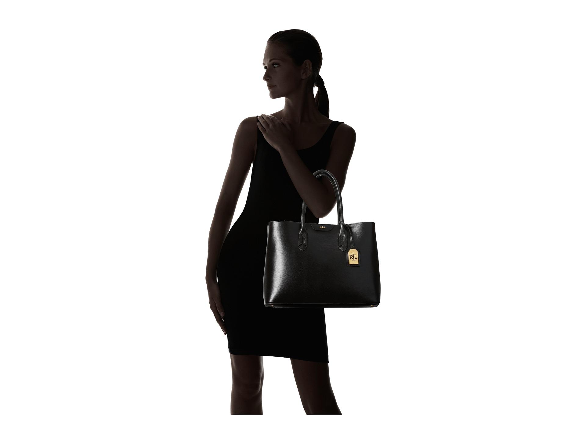 Ralph Lauren City Laukku : Lauren by ralph tate city tote in black lyst