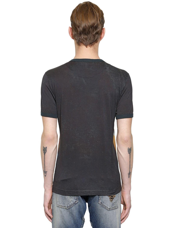 lyst dolce gabbana angel print t shirt in black for men. Black Bedroom Furniture Sets. Home Design Ideas