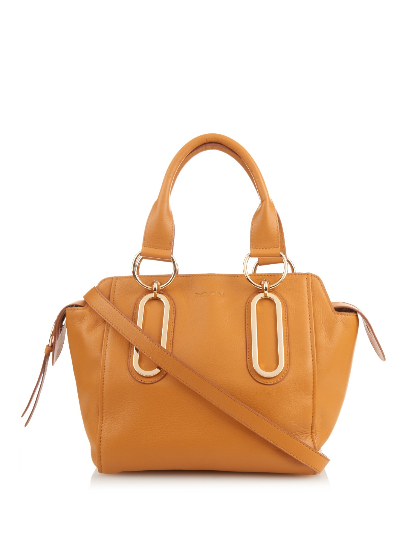 adb653d178 See By Chloé Orange Paige Large Leather Bag