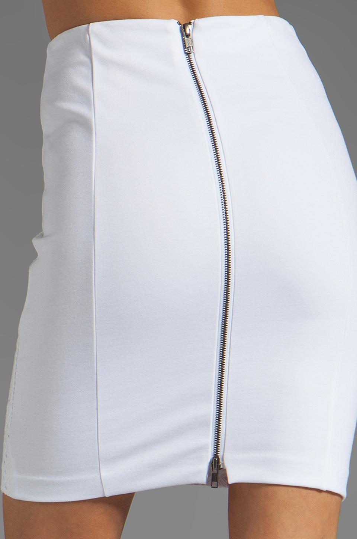 025ac9972f Catherine Malandrino Eyelet Pencil Skirt in White - Lyst