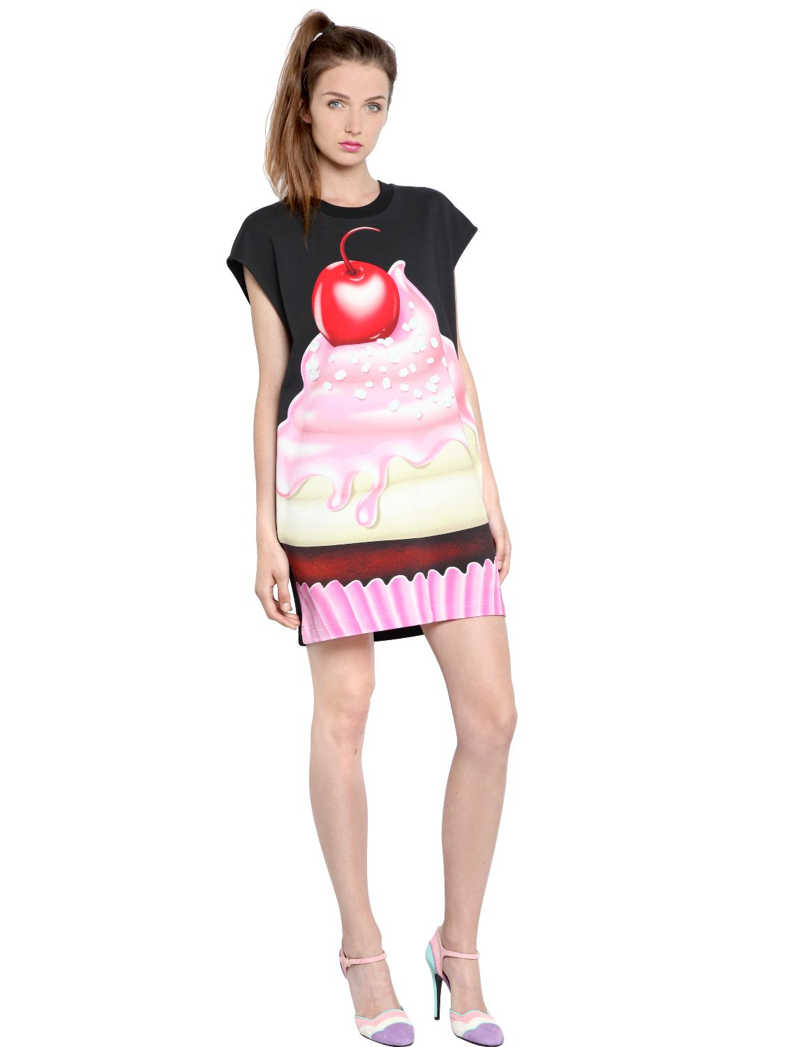 Boutique Moschino Cupcake Heavy Cotton Jersey Dress In