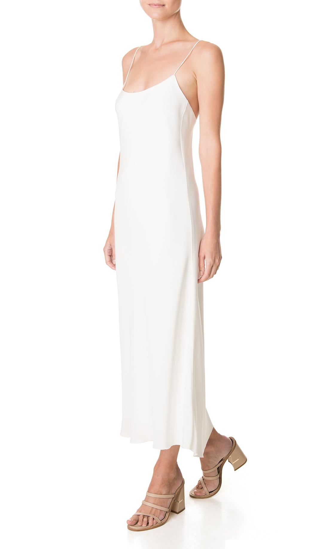 Lyst - Tibi Silk Bias Slip Dress in White