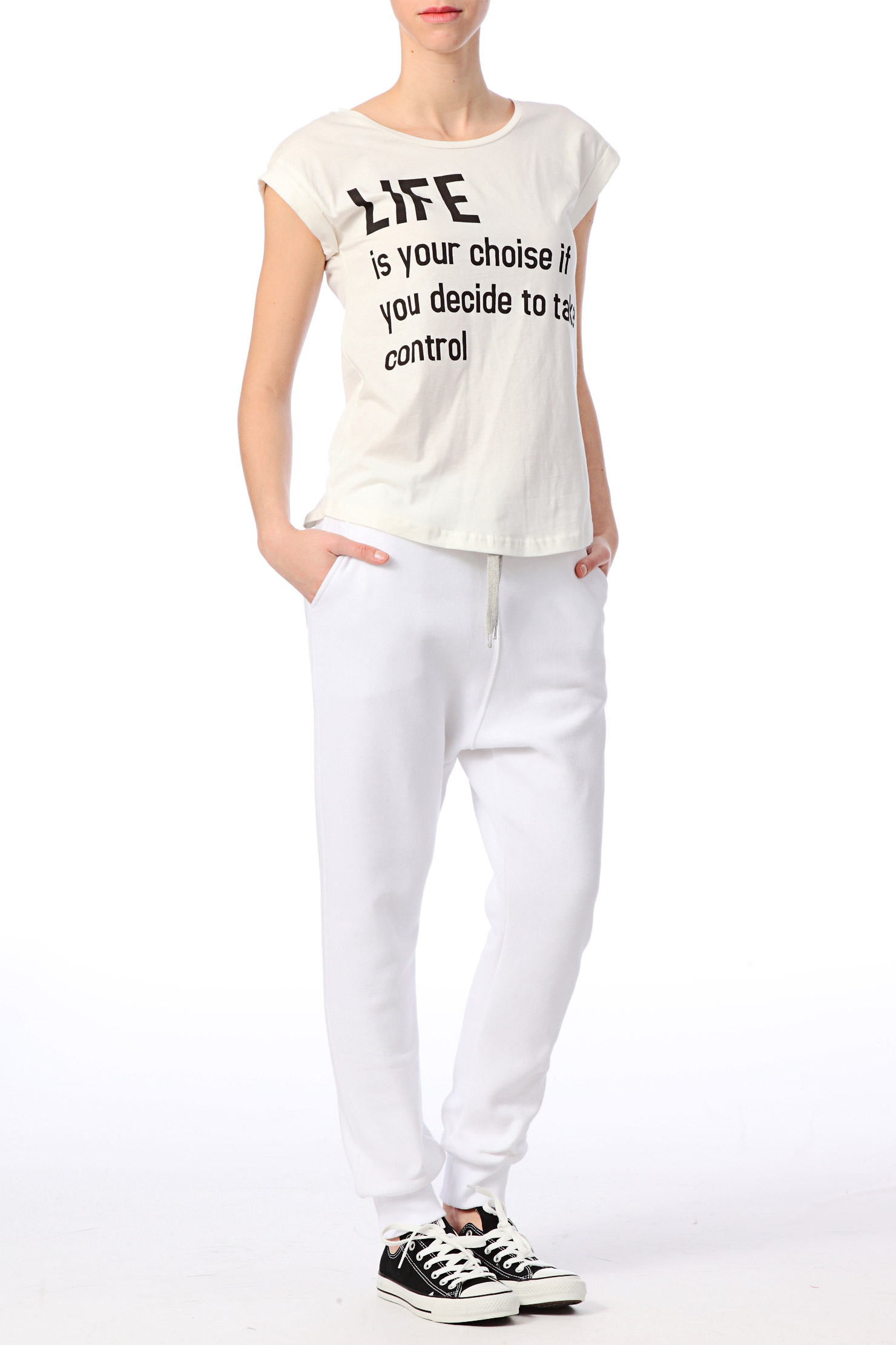 Sweet pants Sport Homewear Pants Number in White | Lyst