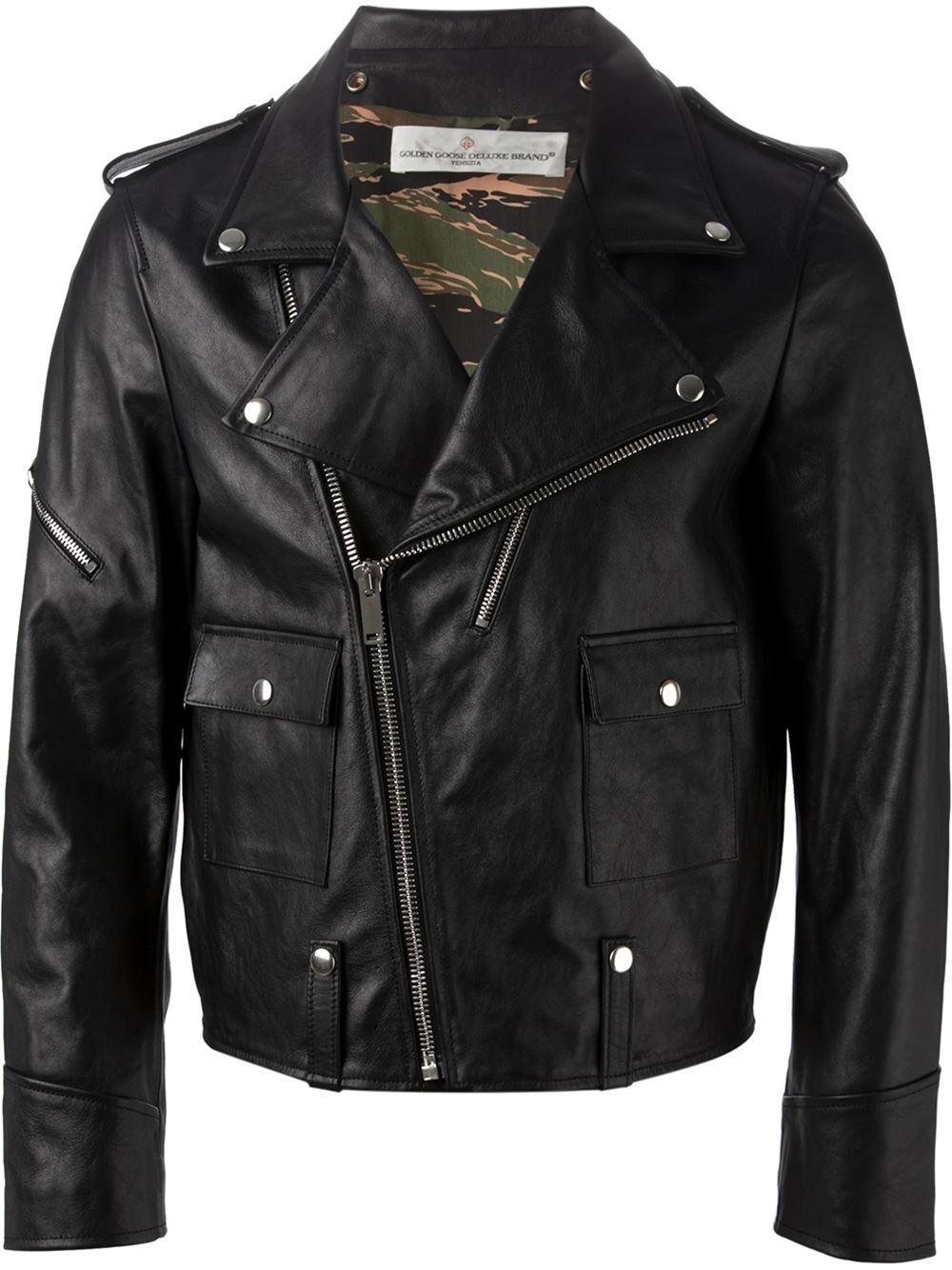 lyst golden goose deluxe brand classic biker jacket in black for men. Black Bedroom Furniture Sets. Home Design Ideas