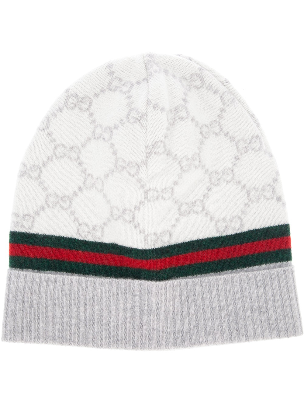 Lyst - Gucci Monogram Beanie Hat in Natural 3e883c6964a