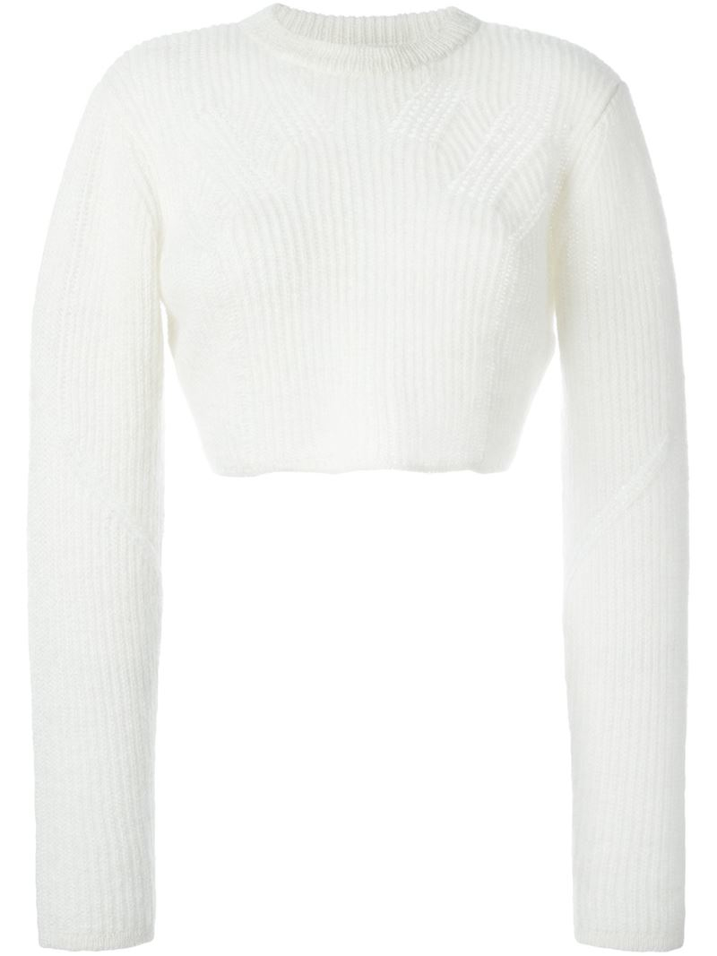 Public school Cropped Sweater in White | Lyst