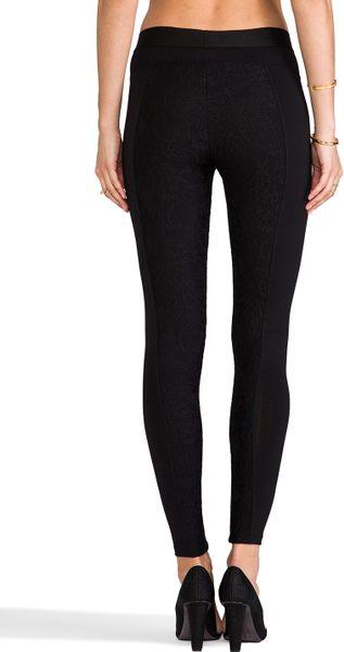 David Lerner Bergen Lace Legging in Black in Black