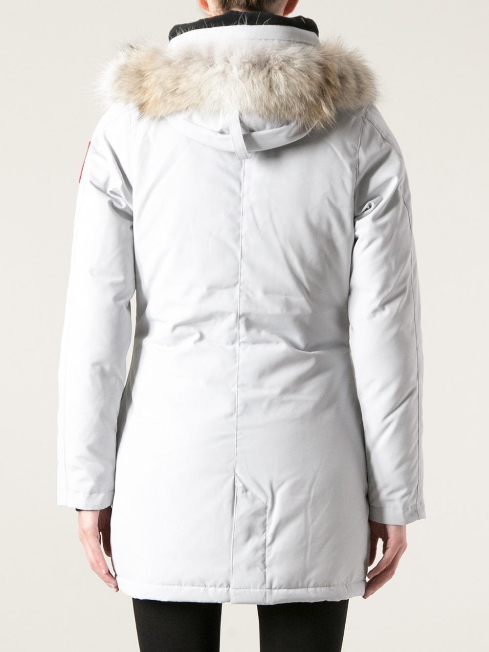 Canada Goose vest sale fake - Canada goose Victoria Parka in Gray (grey) | Lyst