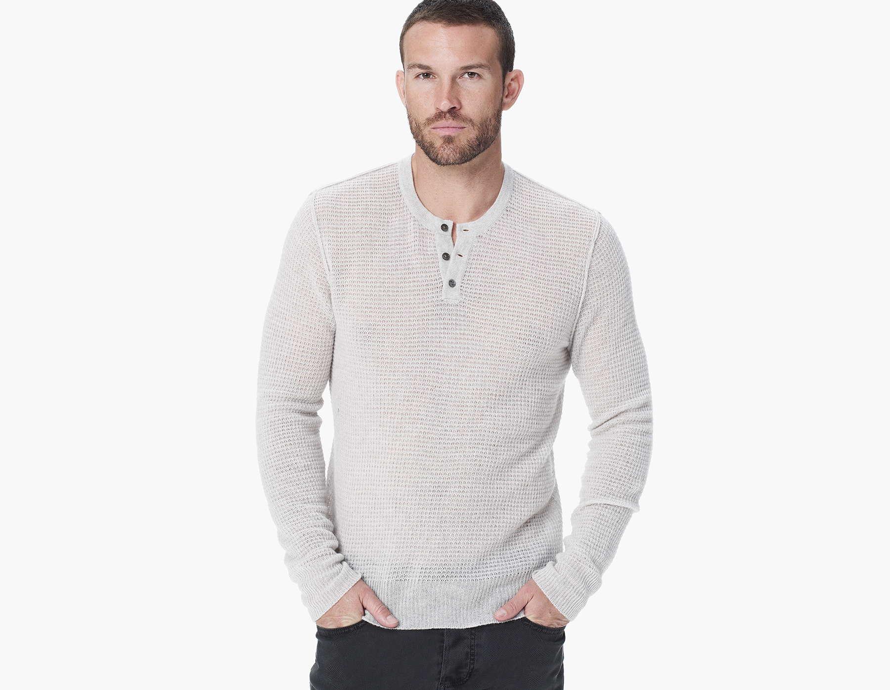 Lyst James Perse Lighweight Cashmere Thermal Henley In