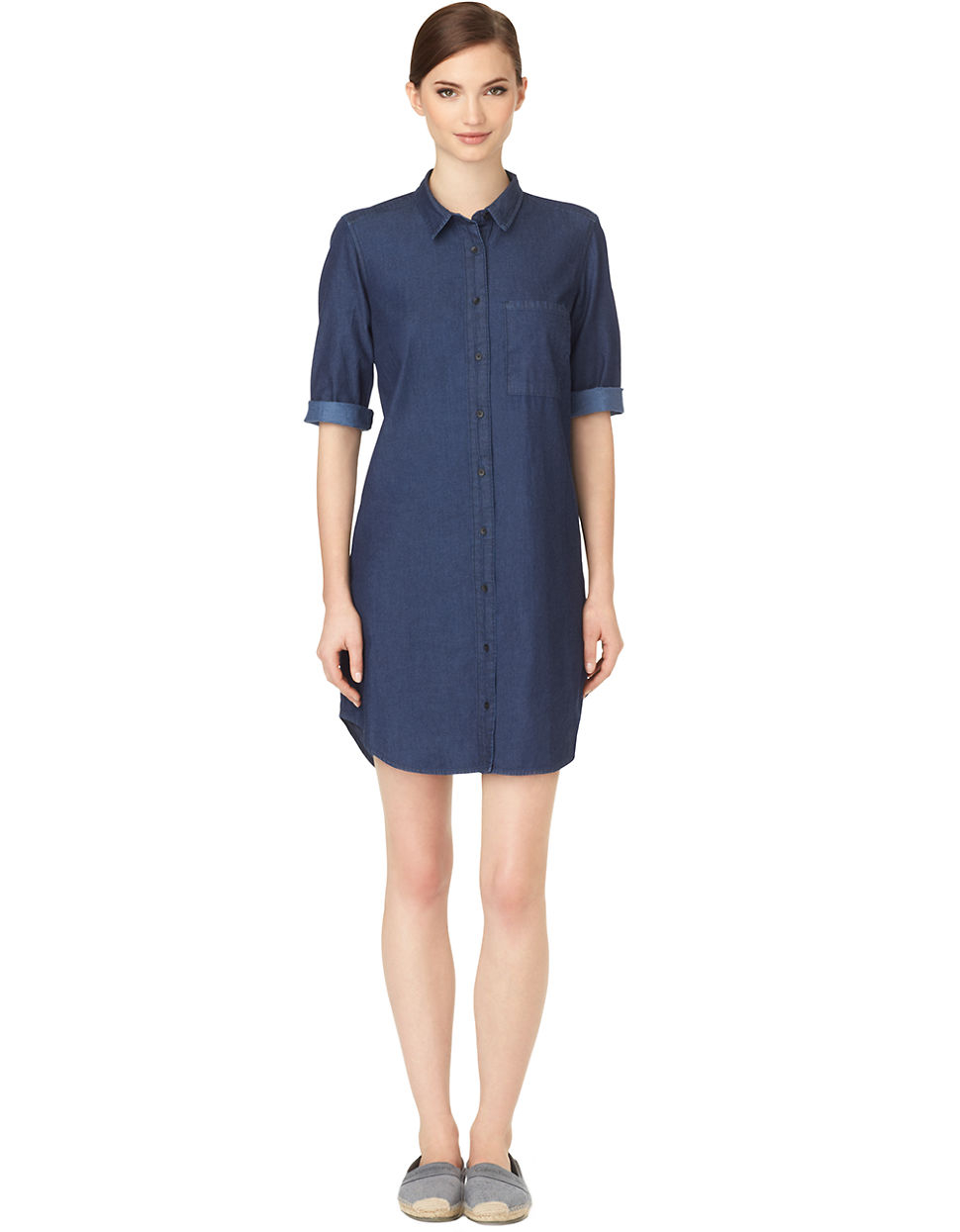 Calvin Klein Jeans Denim Shirt Dress In Blue Autumn Lyst