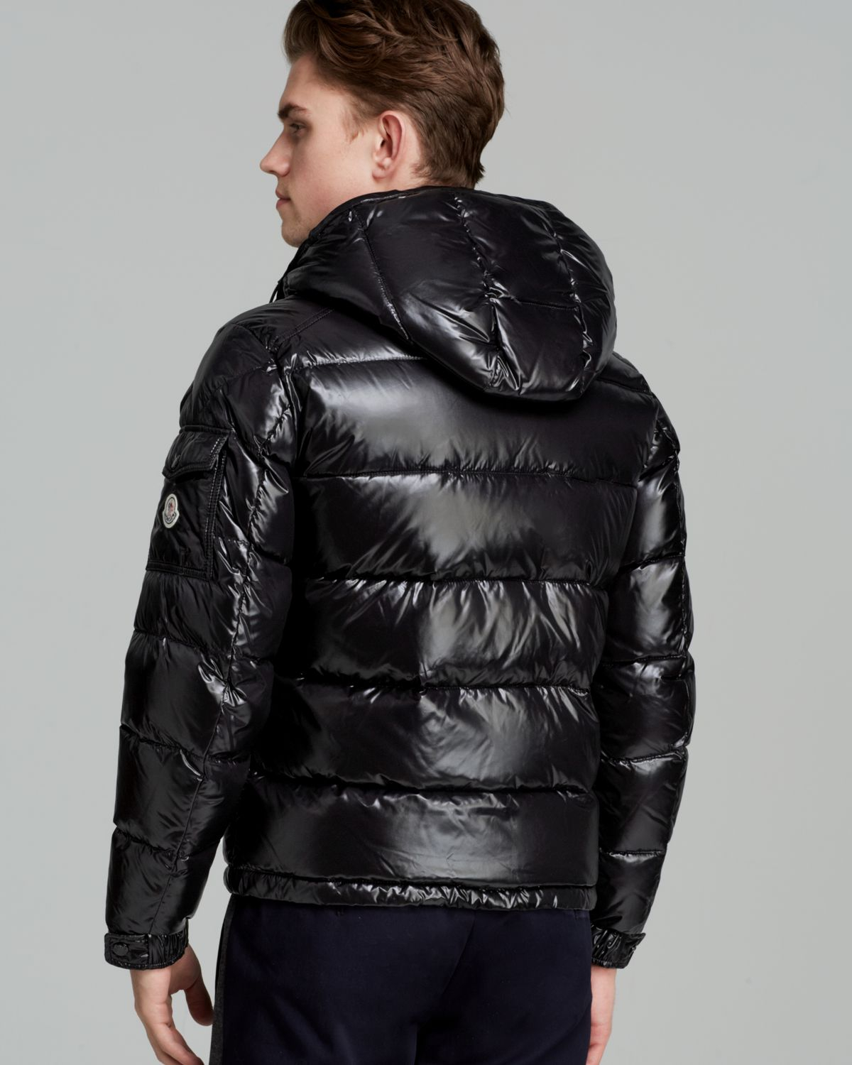05ed3c441689 Lyst - Moncler Maya Glossy Hooded Down Jacket in Black for Men