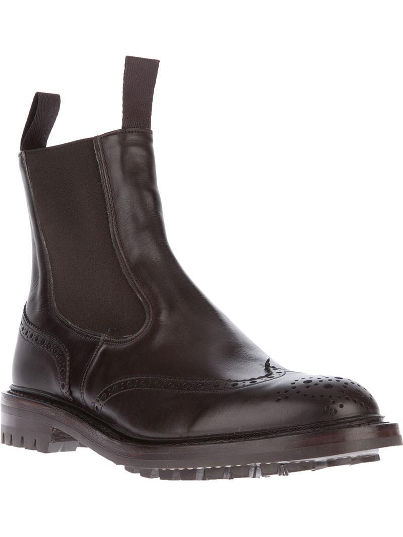 Lyst Tricker S Henry Boot In Black For Men