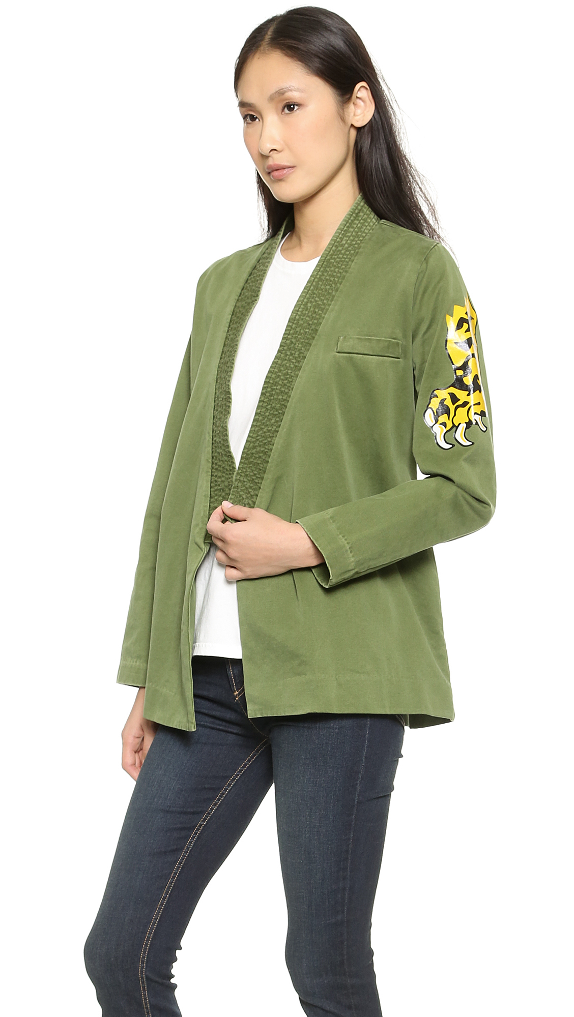 lyst marc by marc jacobs cotton kimono jacket new. Black Bedroom Furniture Sets. Home Design Ideas