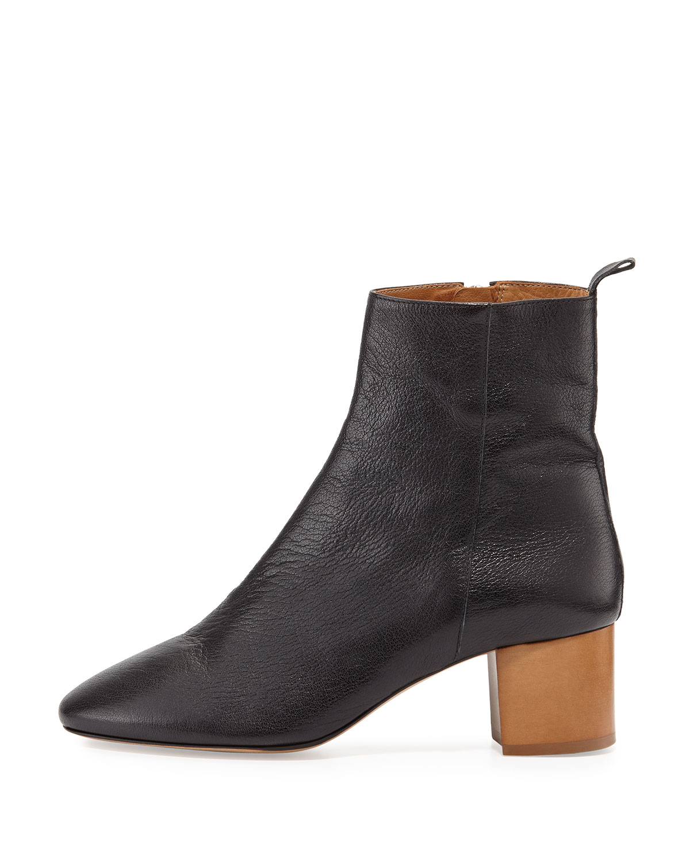isabel marant black leather 39 drew 39 ankle boots in black lyst. Black Bedroom Furniture Sets. Home Design Ideas