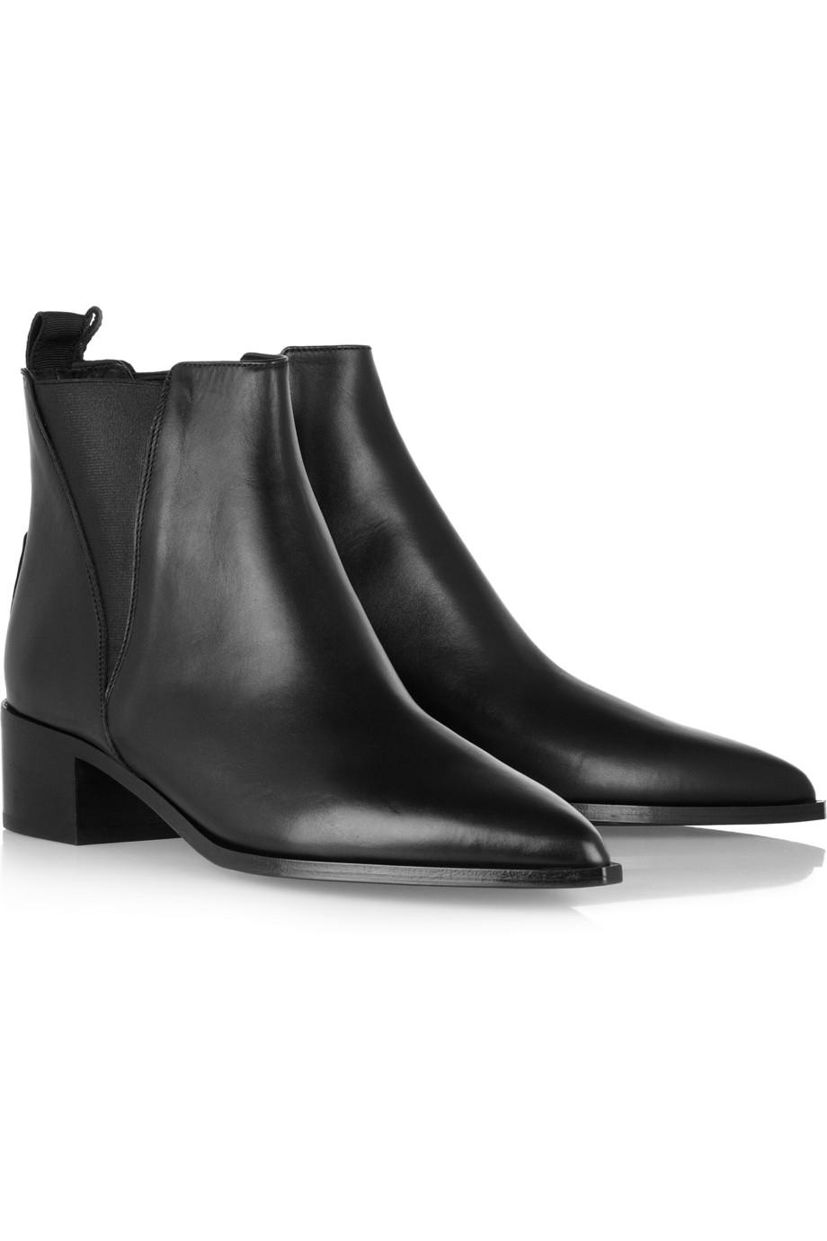 acne studios jensen leather ankle boots in black lyst. Black Bedroom Furniture Sets. Home Design Ideas
