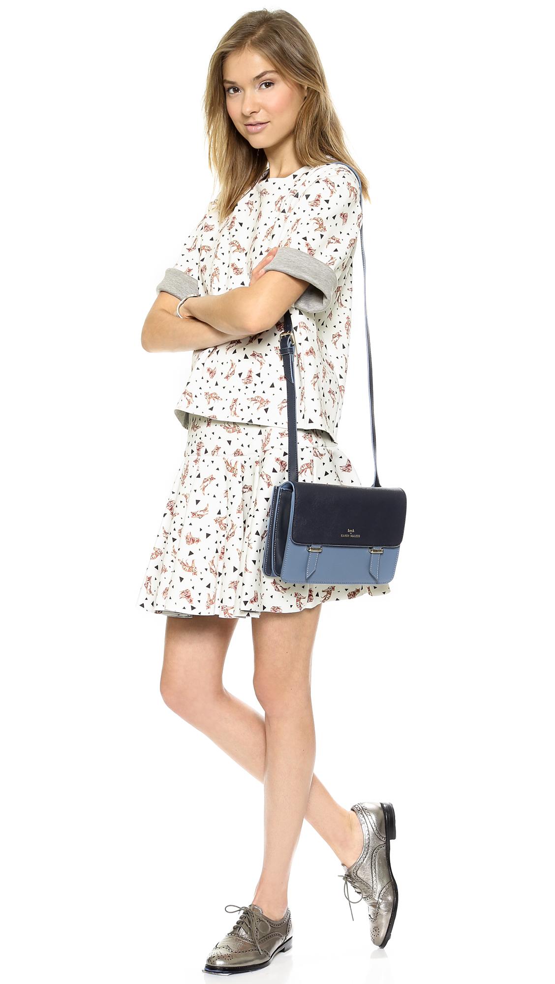 Karen Walker Sloane Cross Body Bag  Bluemidnight
