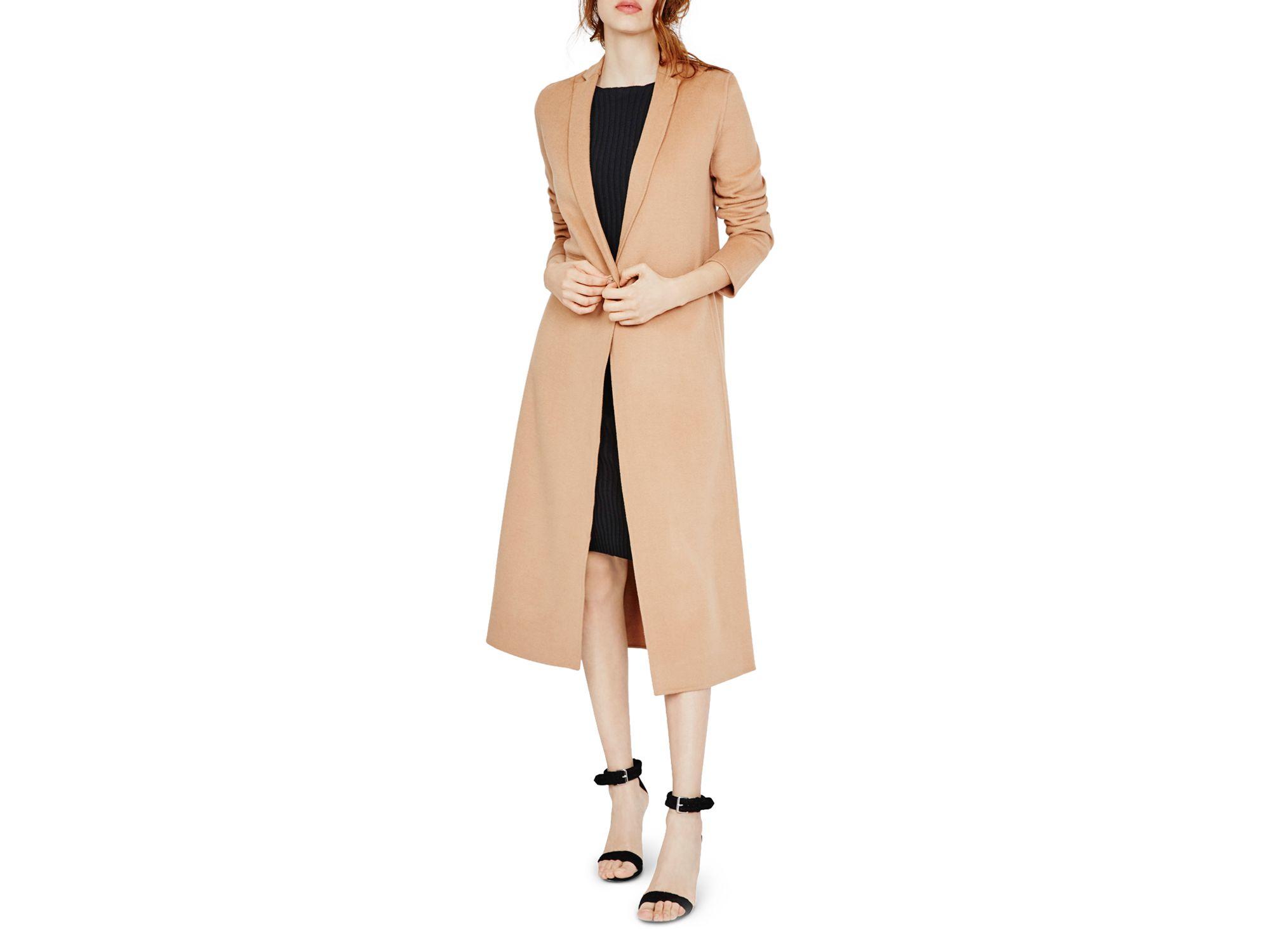Maje Galaxie Wool-blend Overcoat in Brown | Lyst