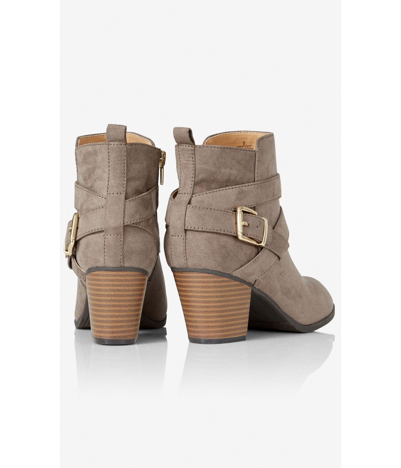 Express Zip-up Buckle Ankle Boot in Grey