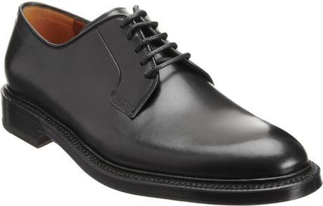 Battistoni Plain-Toe Bluchers in Black for Men