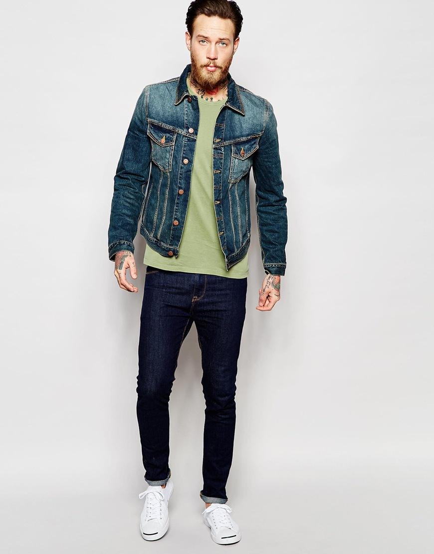 7838a72348 Nudie Jeans Billy Trucker Denim Jacket in Brown for Men - Lyst