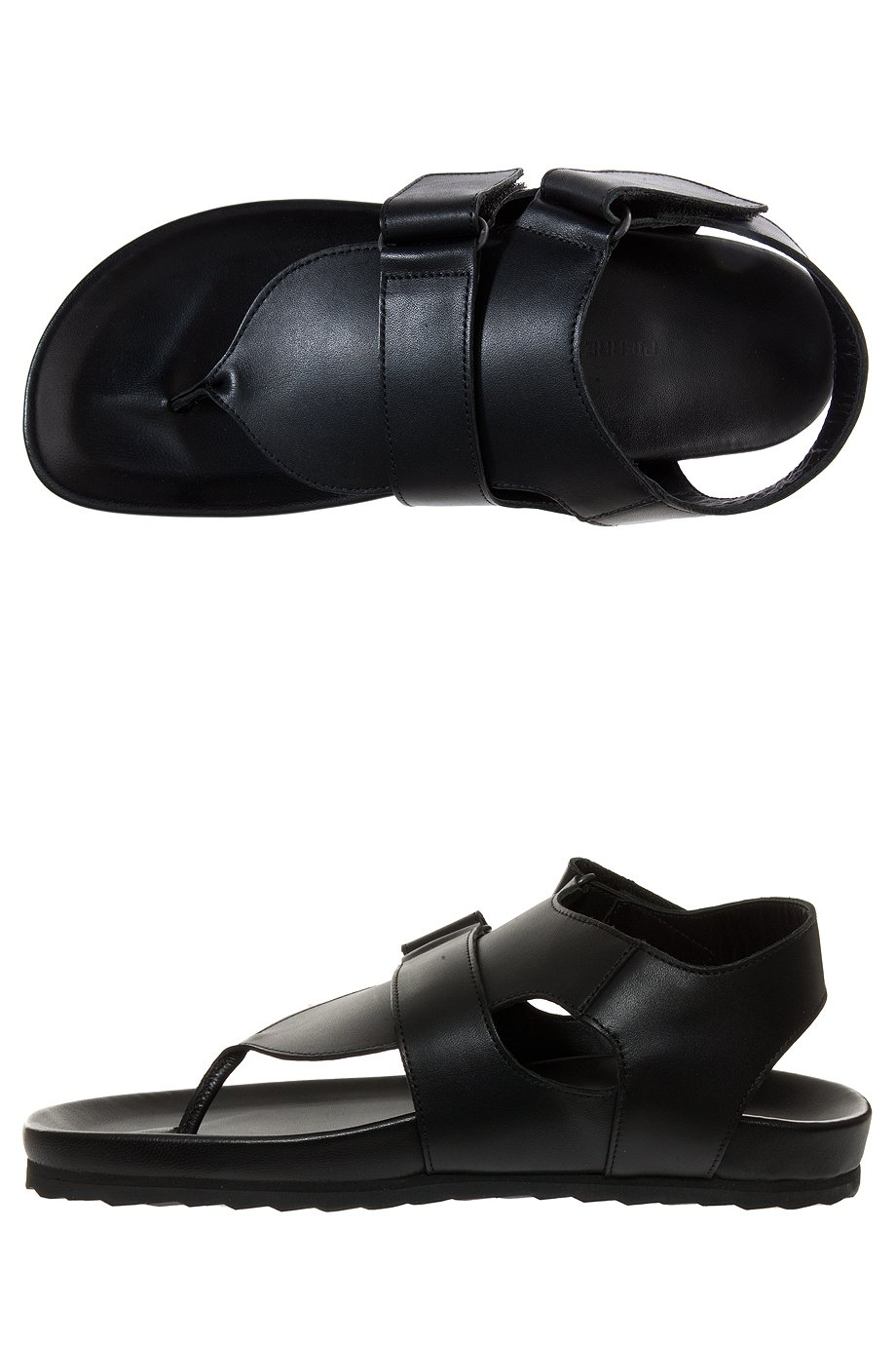 Lyst Pierre Hardy Leather Sandals In Black For Men