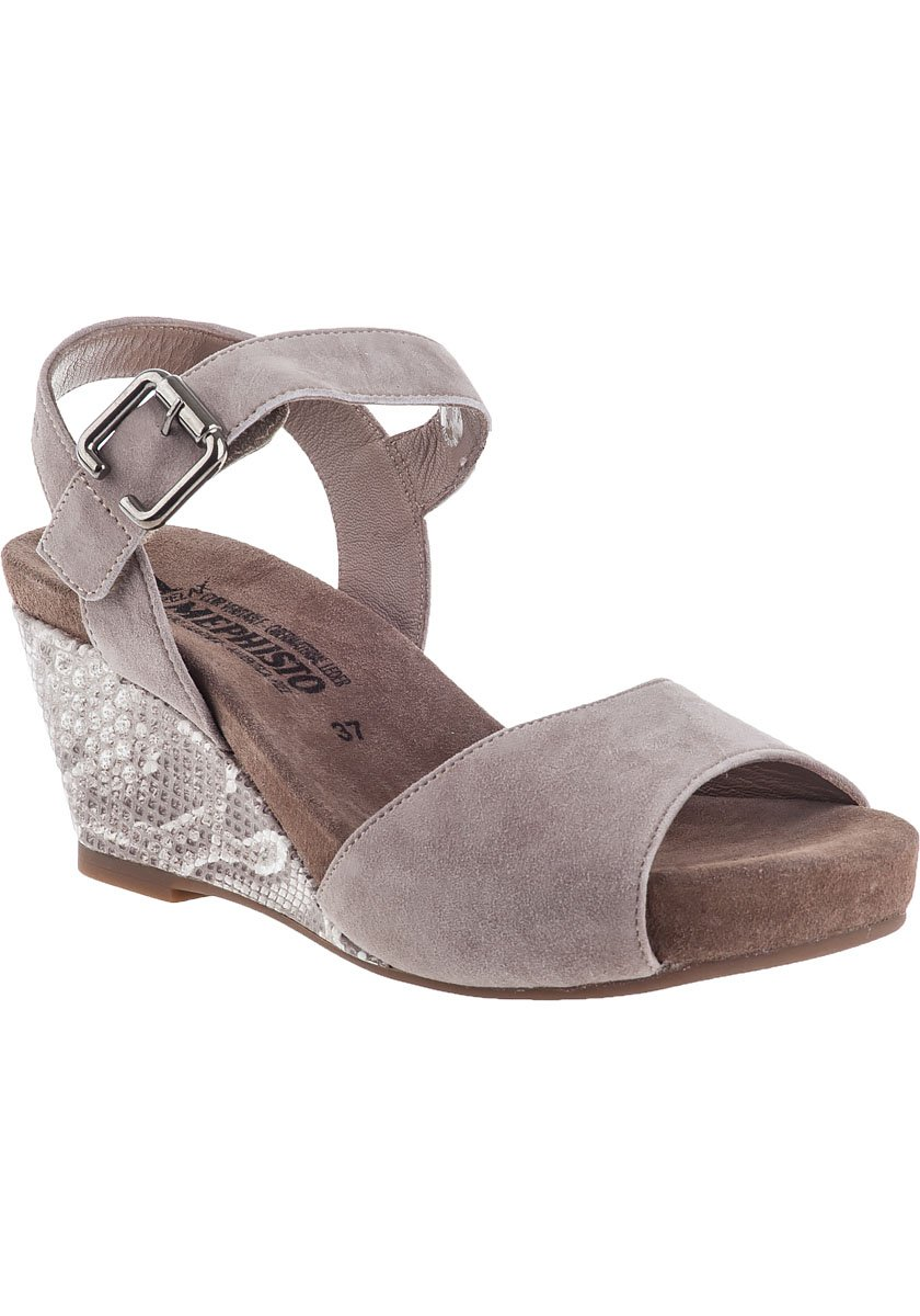 9dc28308296 Mephisto beauty wedge sandal light sand suede in gray lyst jpg 840x1200 Mephisto  wedge sandals