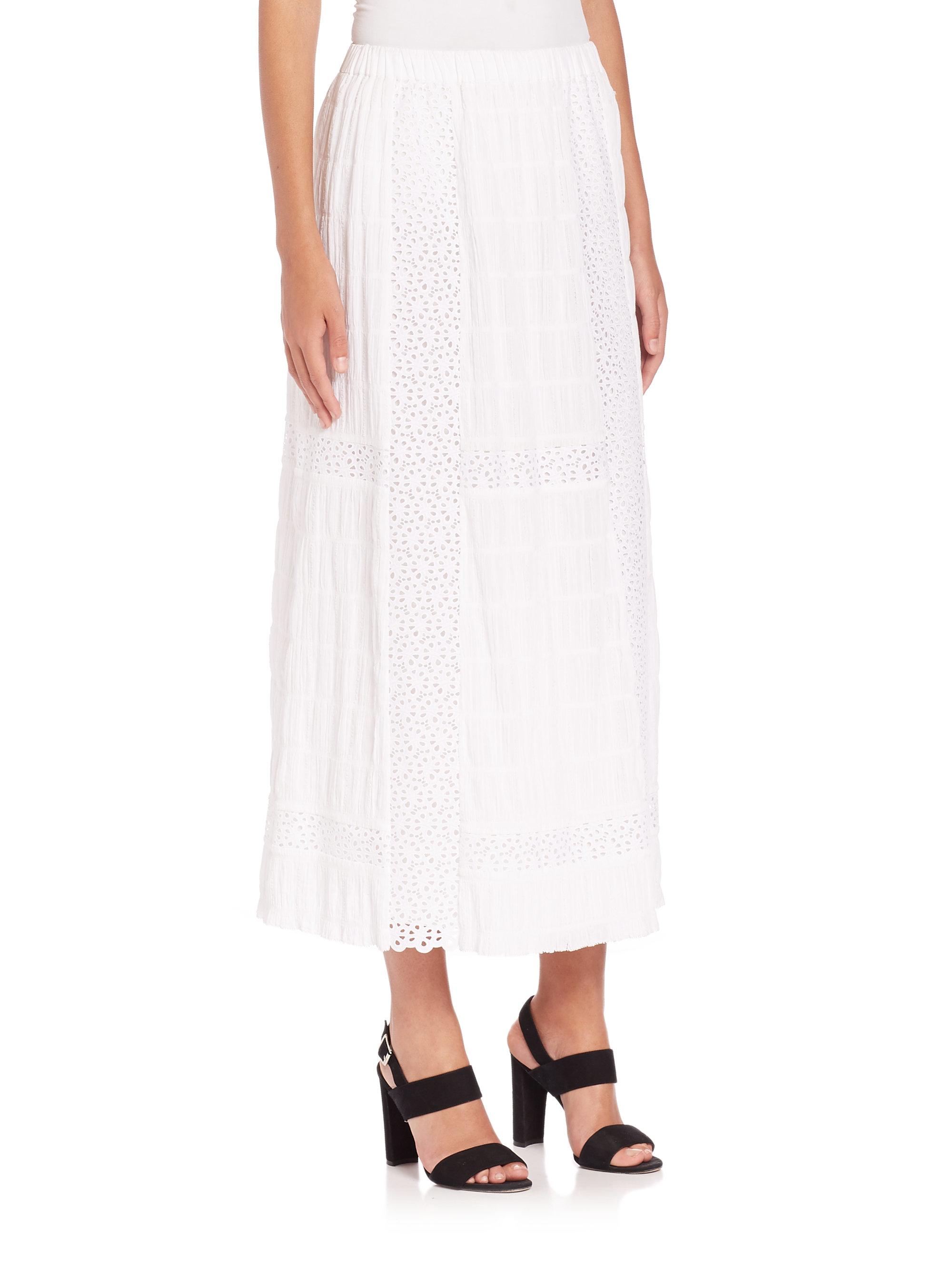thakoon crochet maxi skirt in white lyst
