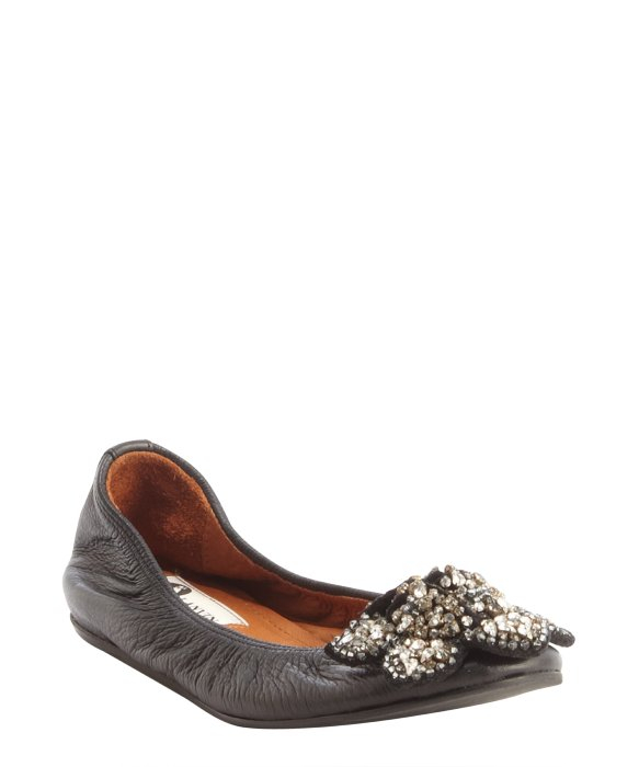 Lanvin Jewel-Embellished Leather Flats from china free shipping low price outlet best prices buy online outlet discount footlocker newest uZANKlrABB