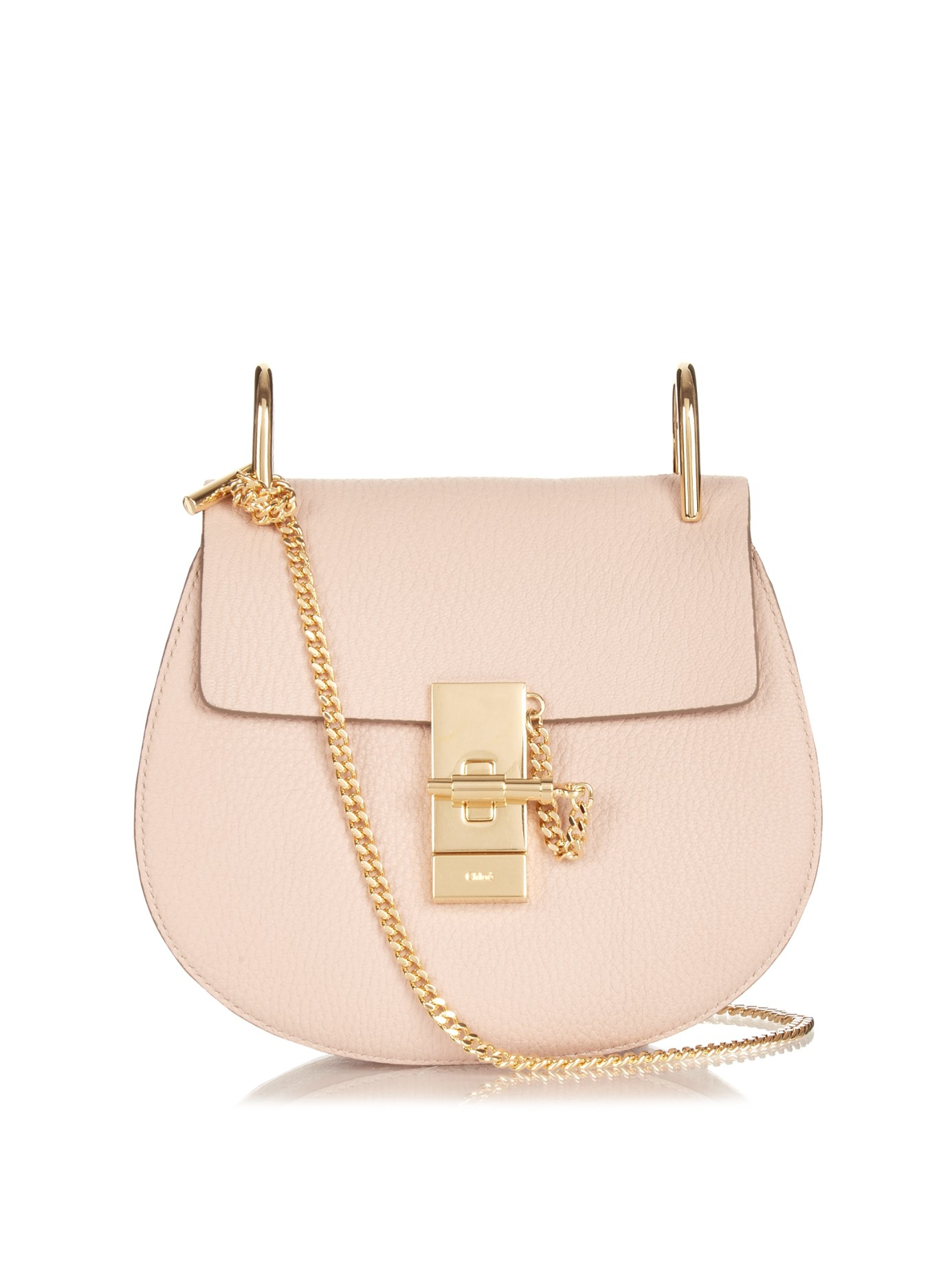 dafb49f5 Chloé Pink Drew Mini Leather Cross-Body Bag
