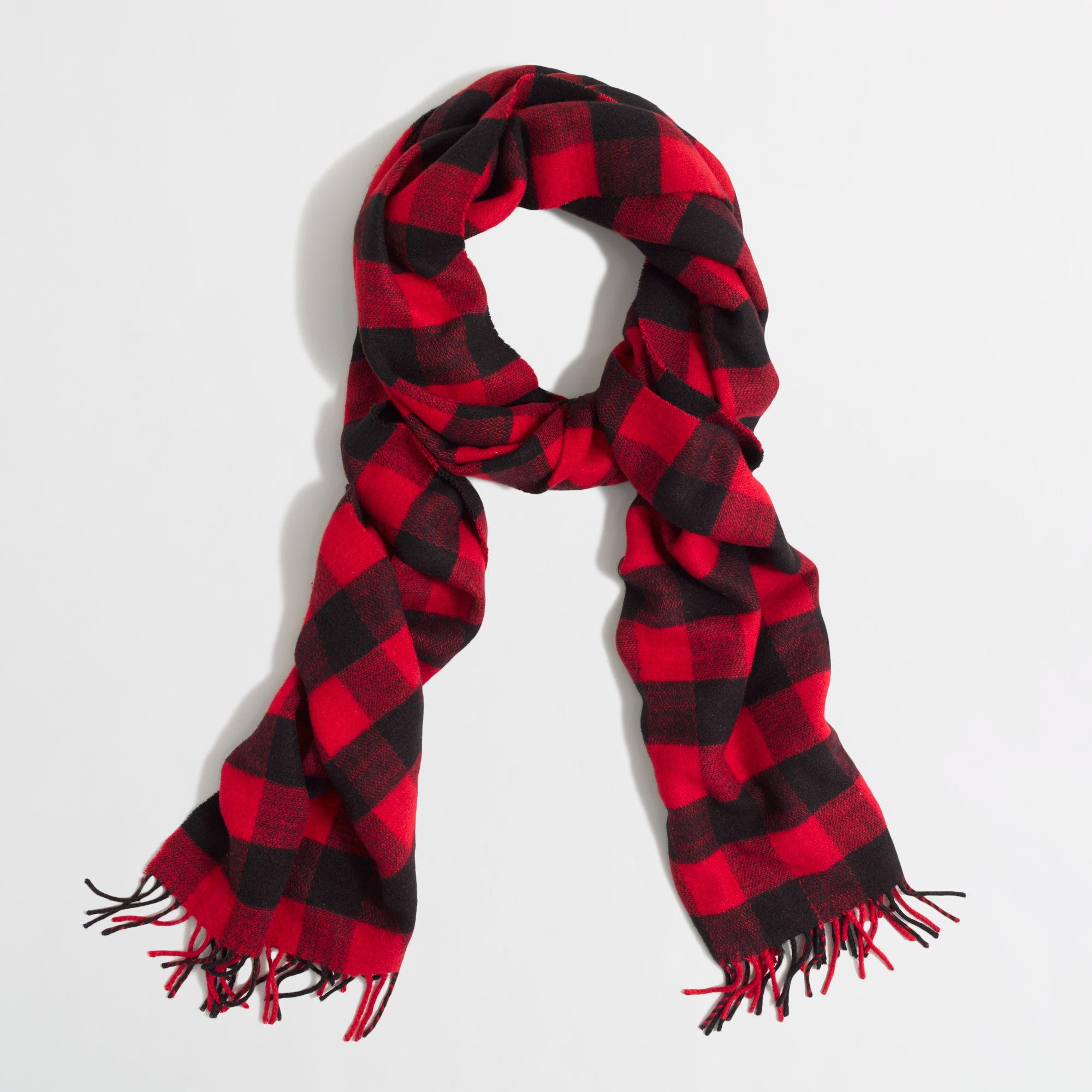836561852 J.Crew Factory Buffalo Plaid Scarf in Red - Lyst