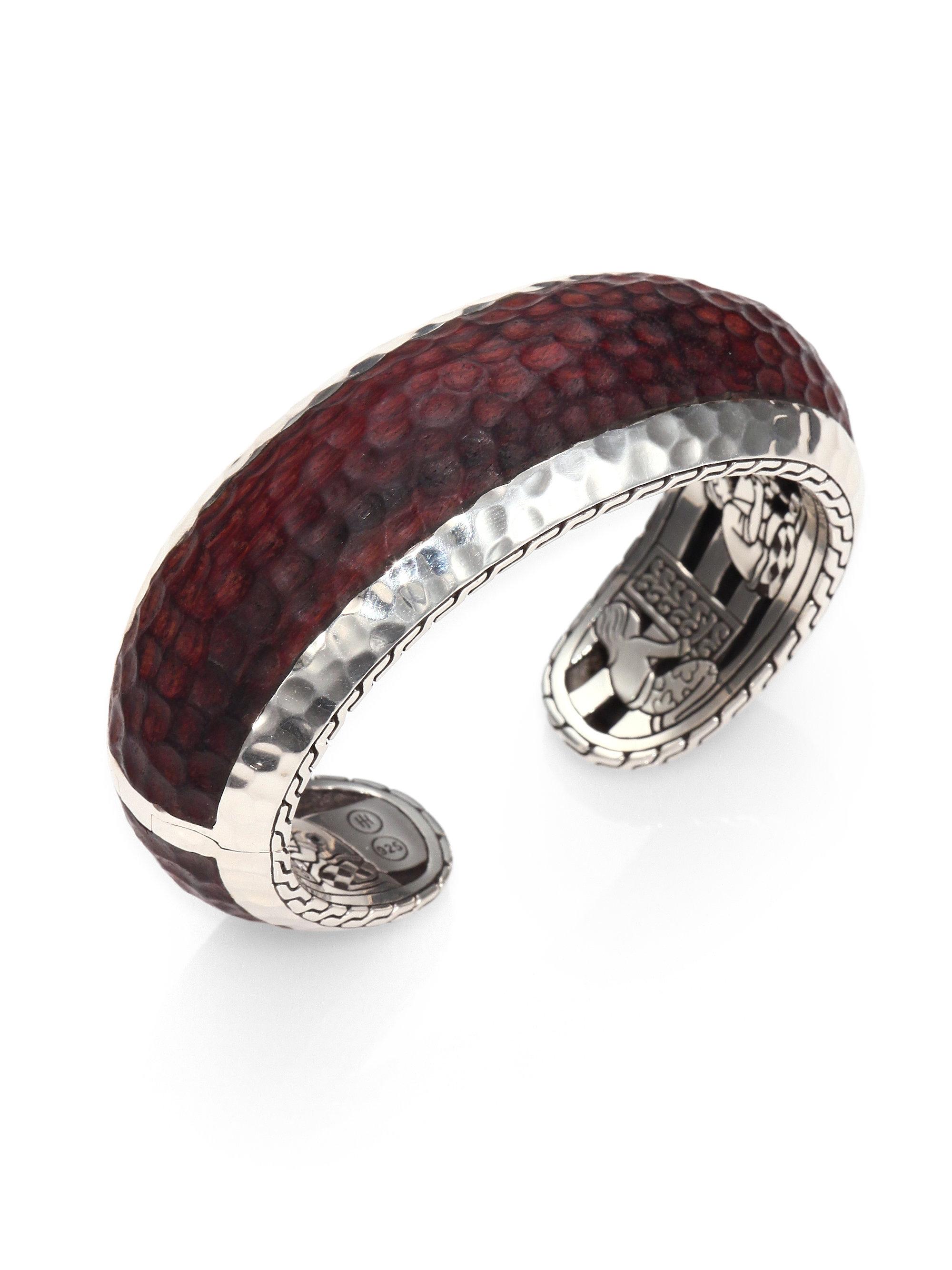 bca399311bb7d John Hardy Palu Sterling Silver Rosewood Cuff Bracelet in Red - Lyst