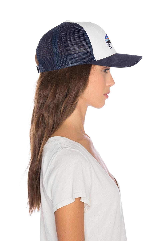 Lyst - Patagonia Fitz Roy Bison Trucker Hat in Blue 03f9017436b9