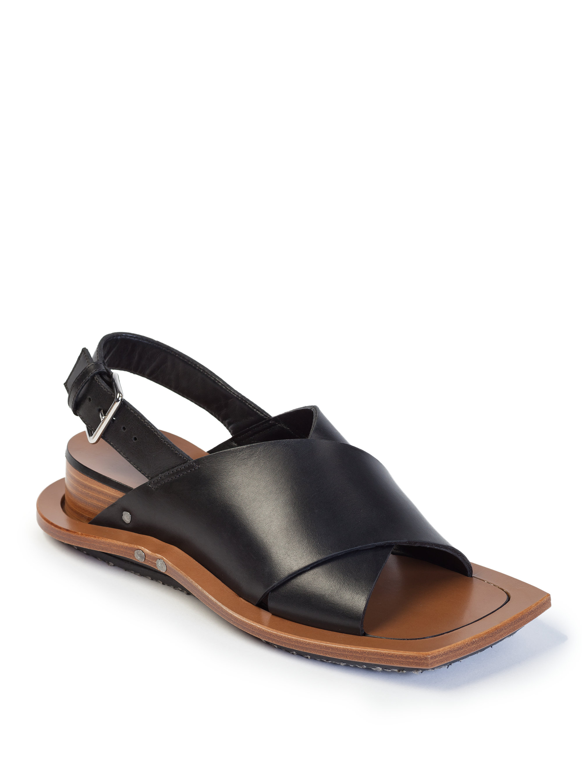 Marni Leather Platform Slingback Sandals amazon footaction cheap fast delivery clearance online cheap real discount lowest price hwV7krlXIE