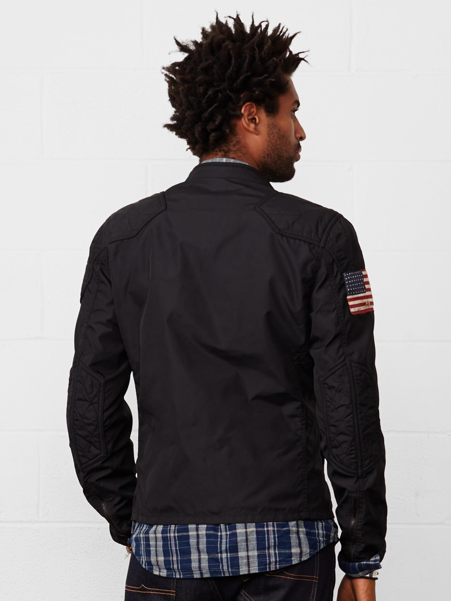 Denim Amp Supply Ralph Lauren Waxed Canvas Moto Jacket In