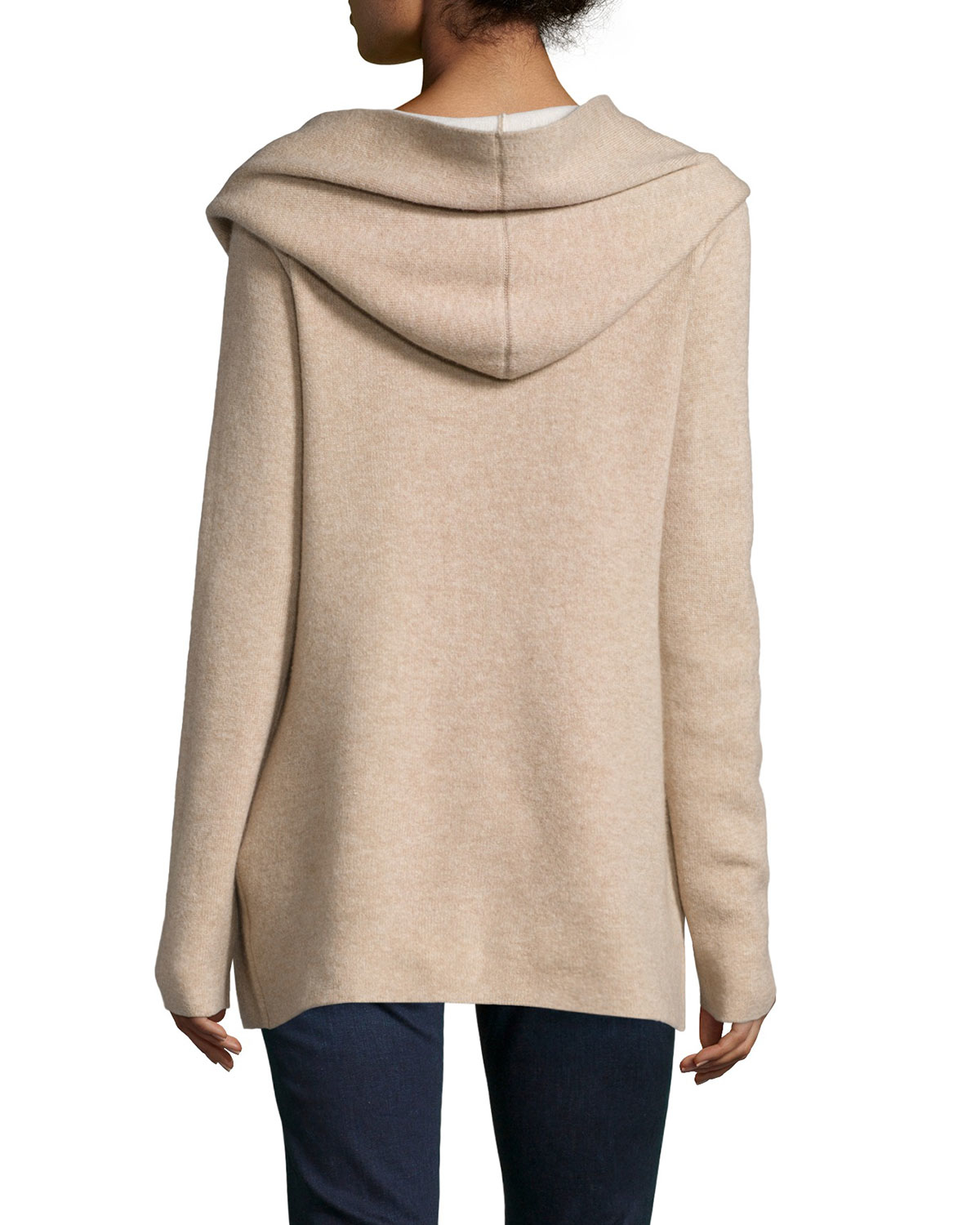 Joie Gredan Hooded Cashmere-blend Cardigan in Brown | Lyst