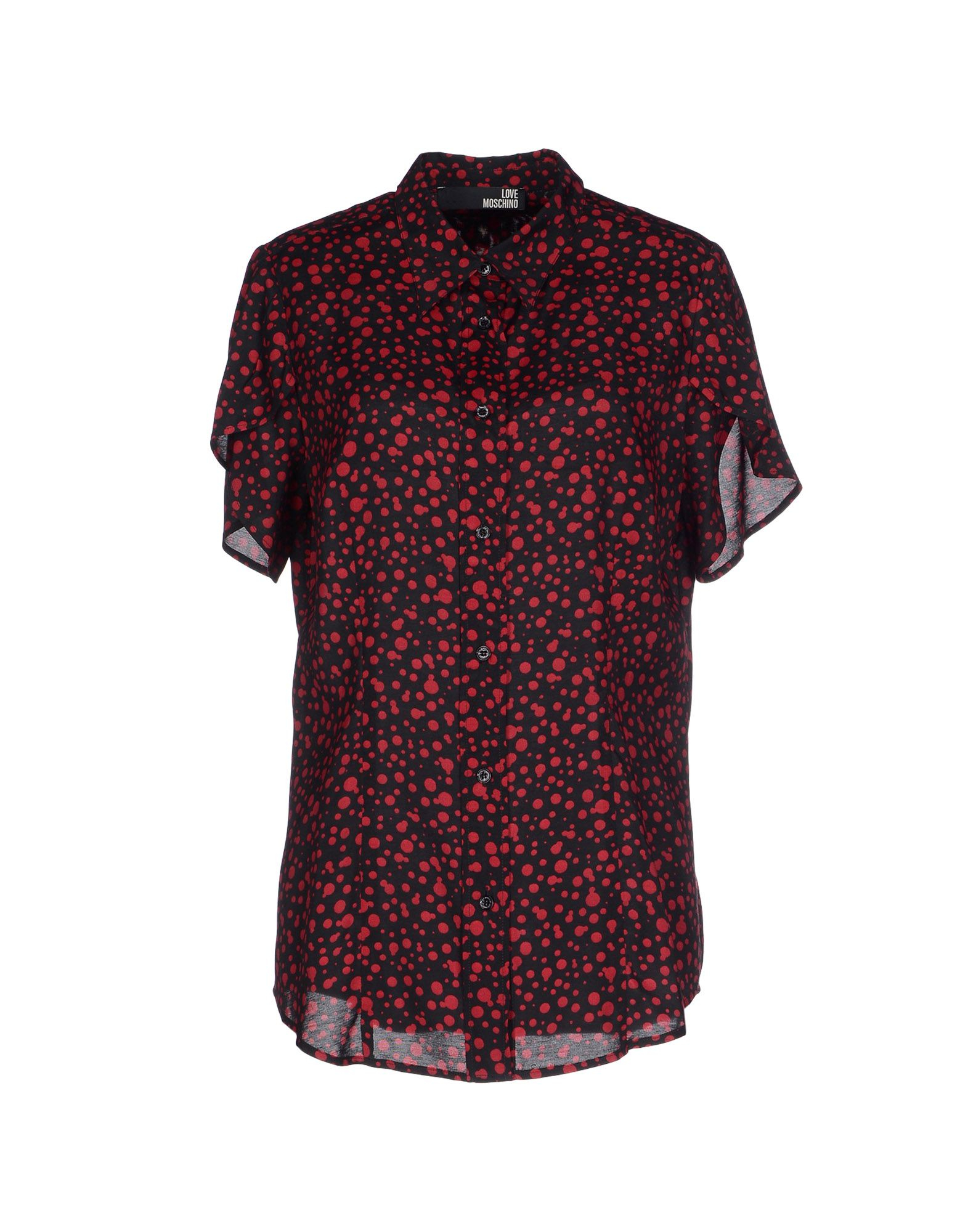 love moschino shirt in red black lyst. Black Bedroom Furniture Sets. Home Design Ideas
