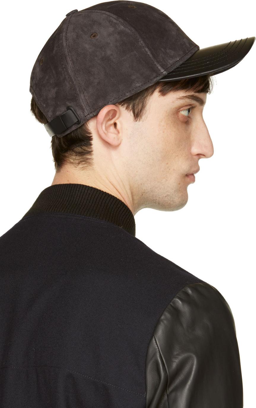Lyst - Rag   Bone Dark Grey Suede Baseball Cap in Gray for Men c94e055da87c