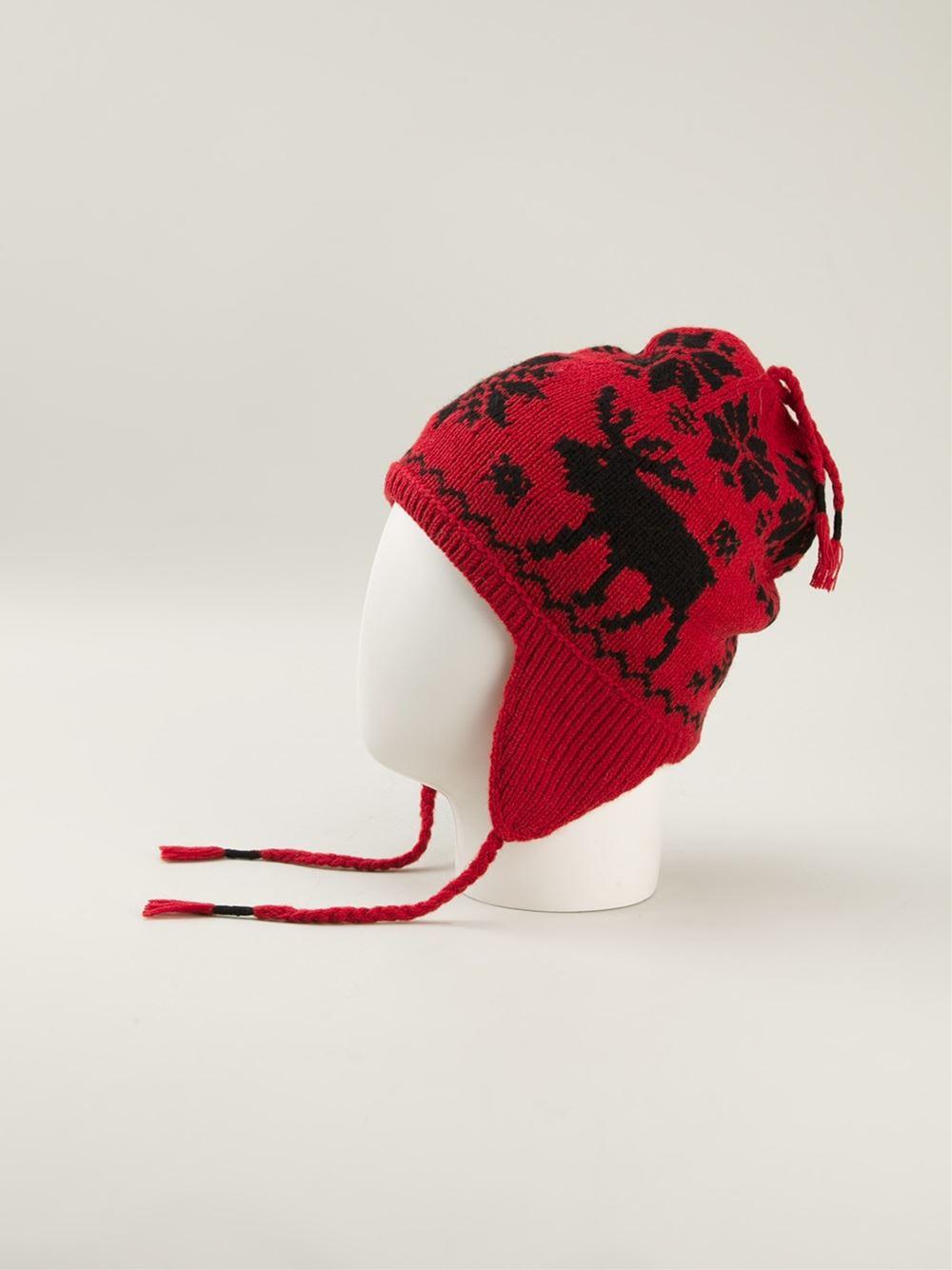 bb5220b06 Polo Ralph Lauren Ear Flap Beanie in Red for Men - Lyst