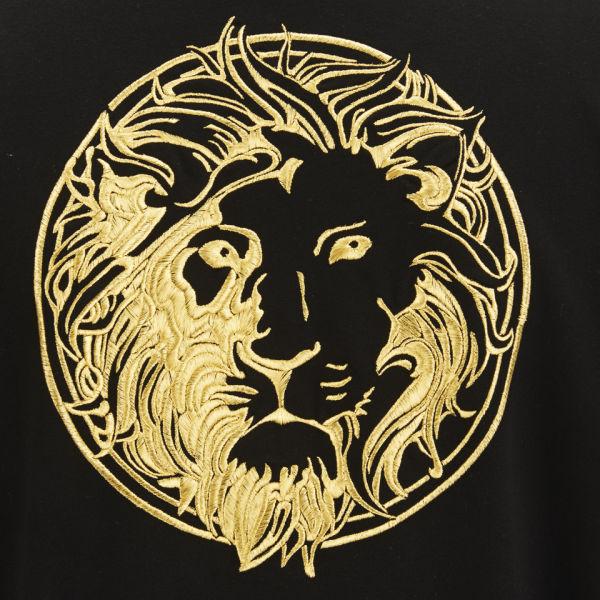 versus mens logo hoodie in black for men lyst