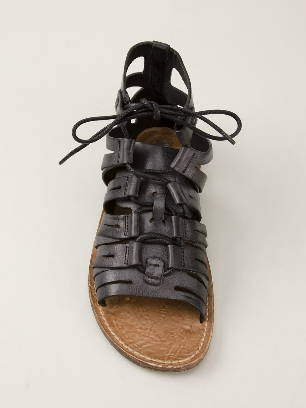 Lyst Dolce Amp Gabbana Gladiator Sandals In Black For Men