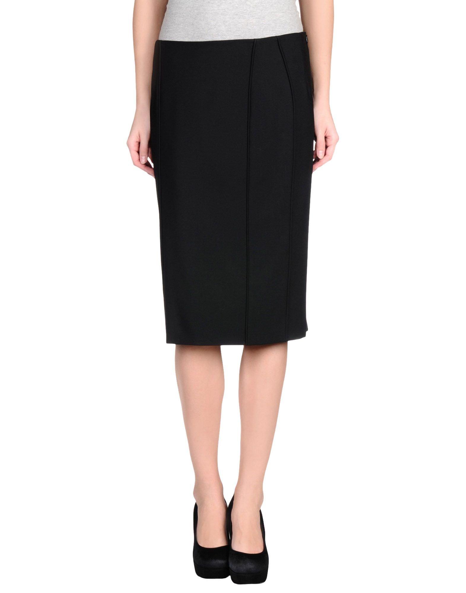 Alberta ferretti Knee Length Skirt in Black | Lyst