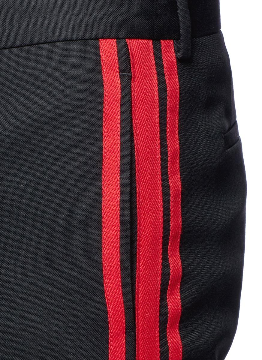 Givenchy Triple Side Stripe Wool Pants In Black For Men Lyst