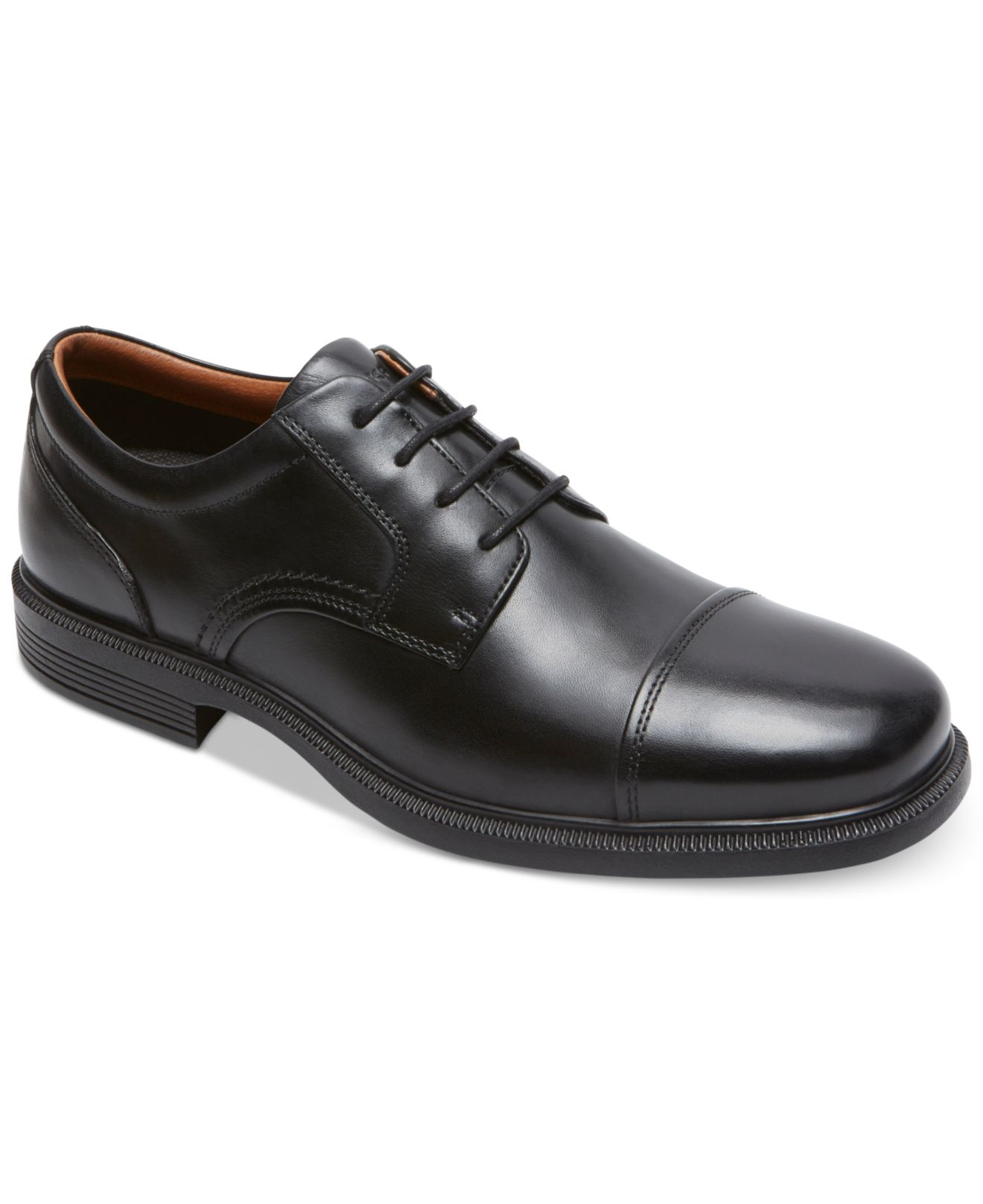 Rockport Men S Dressports Luxe Cap Toe Oxford Shoes In Black For Men Lyst
