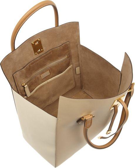 Uk Michael Kors Miranda Totes - Bags Michael Kors Miranda Large Colorblock Leather Tote White