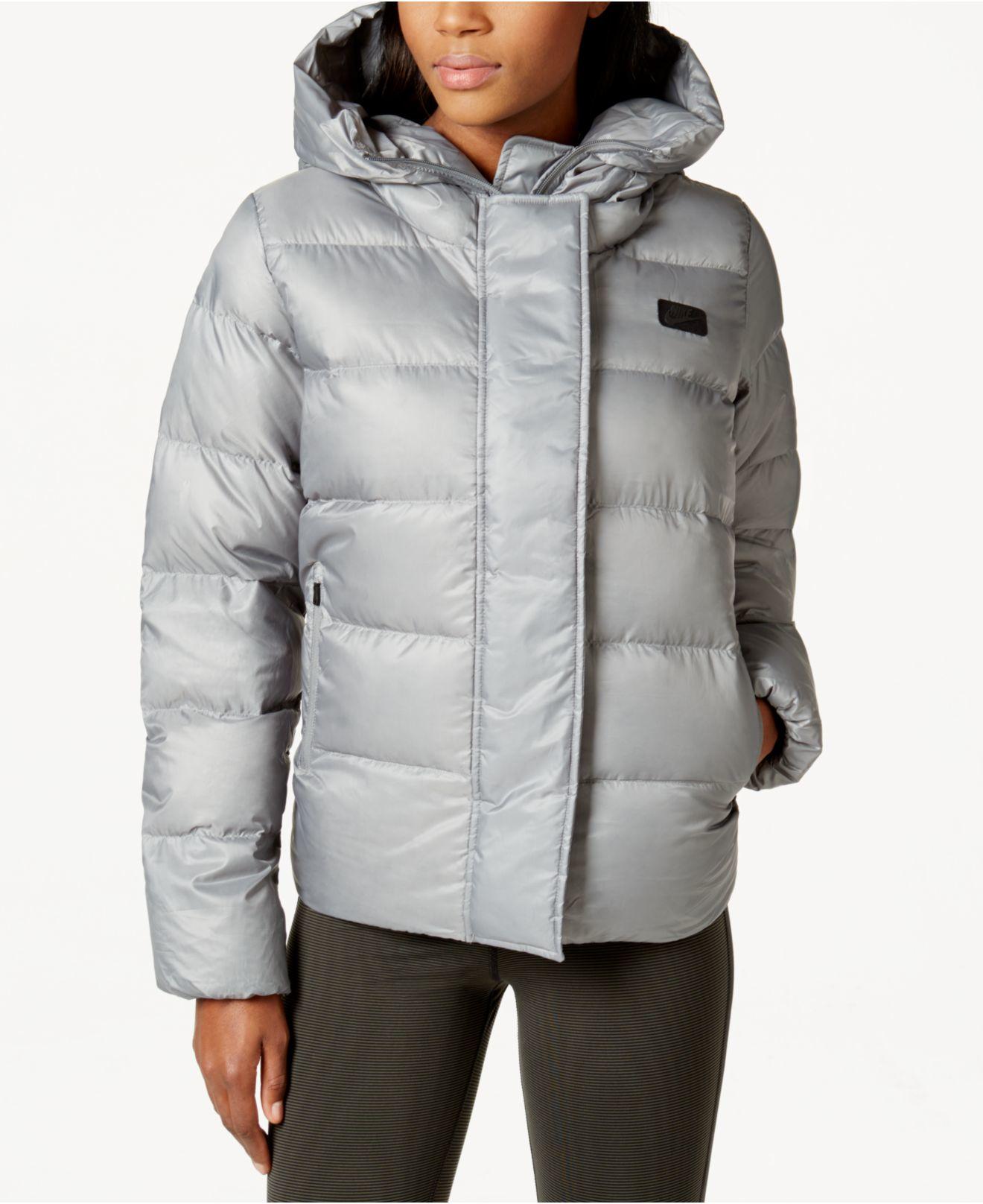 Womens Nike Uptown 550 Down Tumbled Grey/Black Jacket