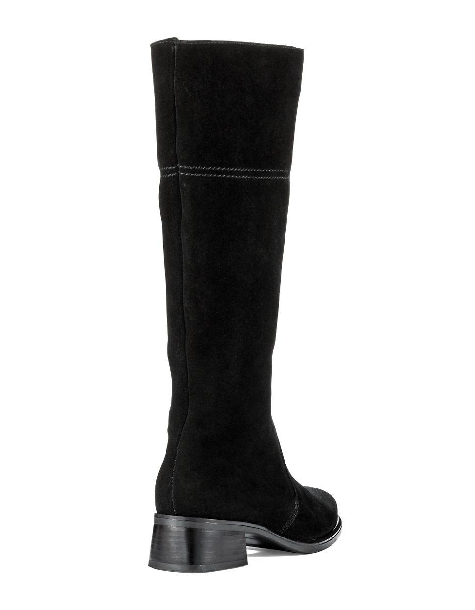 la canadienne laren suede boots in black lyst