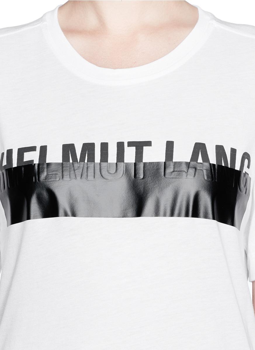 22147e23 Helmut Lang Logo T-shirt in Black - Lyst